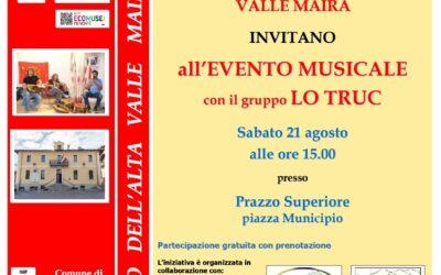 4° RASSEGNA CINE&MUSICA ALL'ECOMUSEO: concerto con LO TRUC a Prazzo