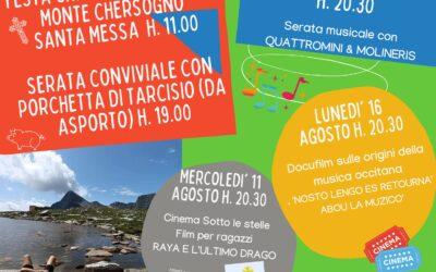 """Appuntamenti  """"ANEN A SAN MICHEL"""" ad agosto a San Michele di Prazzo"""