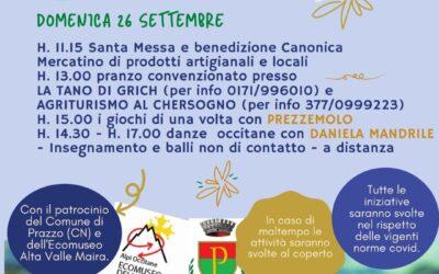 """""""FESTA PATRONALE SAN MICHELE PRAZZO"""" 25 e 26 settembre"""