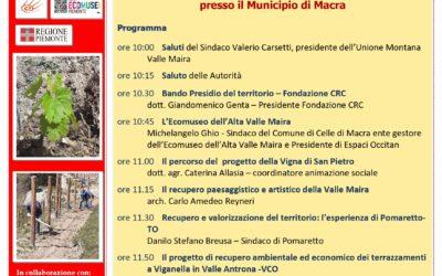 """""""INAUGURAZIONE DELLA VIGNA DI S. PIETRO"""" a Macra 25 settembre 2021"""